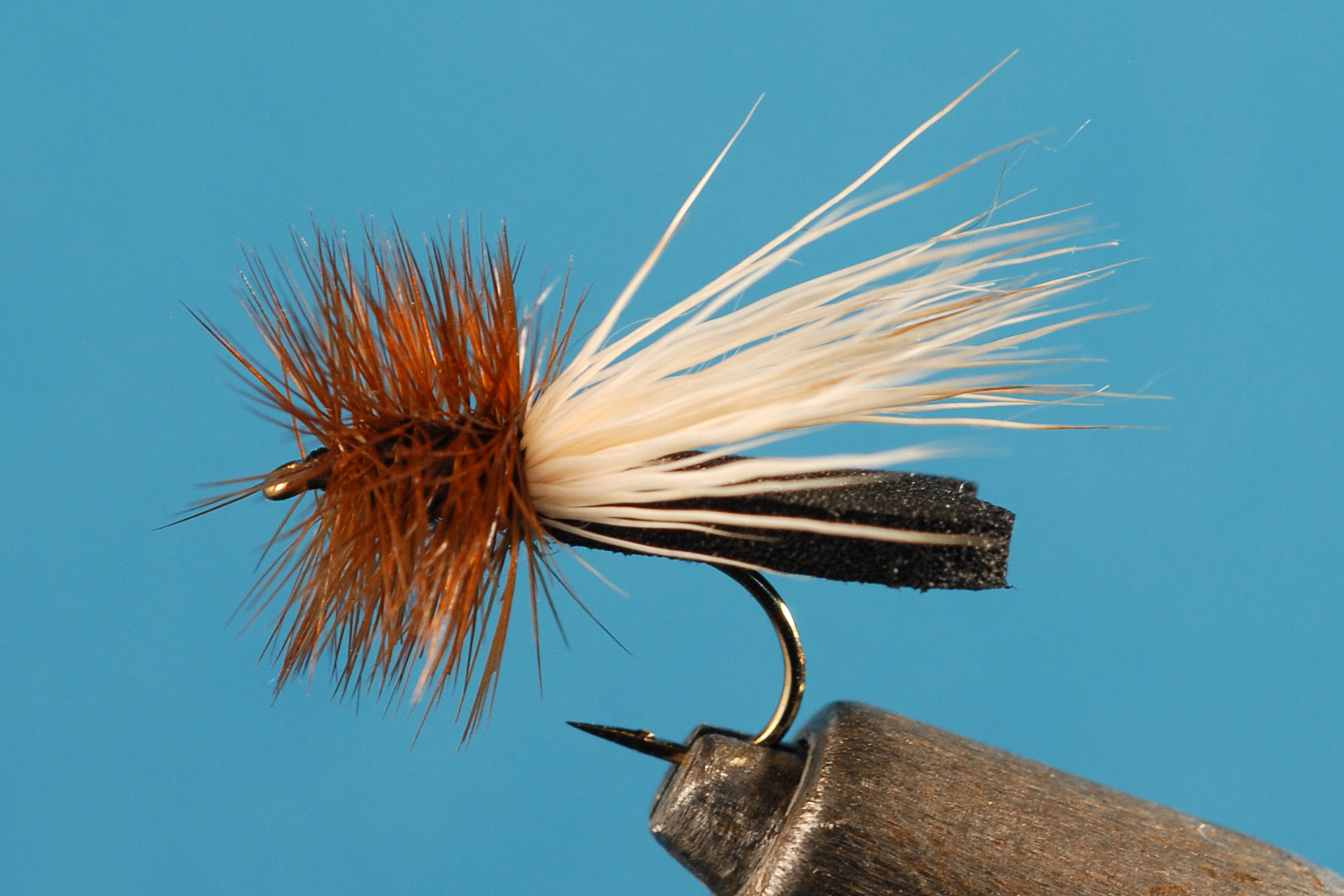 Custom Tied Black Foam Caddis